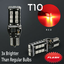 Syneticusa T10/192 Flash Strobe Red LED High Mount Stop 3RD Brake Light Bulbs