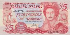 More details for p12a falkland islands five pounds banknote in mint condition dated 1983