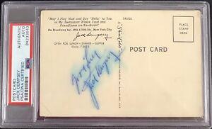 Jack Dempsey Signed Postcard Vintage Jess Willard Autograph Boxing PSA/DNA