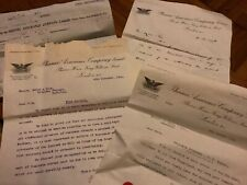 Vintage Letters And Paperwork Dated 1916 Phoenix Assurance Company