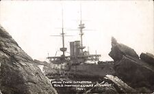 Lundy. HMS Montague Shipwreck Ashore at Lundy by Bolam, Ilfracombe.
