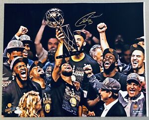 Stephen Curry Autograph vs. LeBron James NBA Finals signed 16x20 photo STEINER
