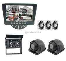 "QUAD REAR VIEW BACKUP CAMERA SYSTEM WITH 7""MONITOR & CCD 700TVL 120° IR CAMERAS"