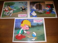 "LOT 3 PHOTOS DU FILM ""LA FLUTE A SIX SCHTROUMPFS"" / 5 / EXCELLENT ETAT"