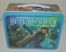 Nice Vintage 1983 ROTJ Return of the Jedi Star Wars Metal Lunchbox C7+ Rare