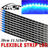 10PCS 1Ft/15 LED Waterproof Car Boat ATV Trailer Flexible Strip Light Bar 12V US