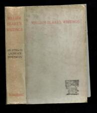 Selections from the Writings of William Blake. Kegan Paul, Trench. 1893 Good