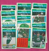1982-83 OPC HARTFORD WHALERS  CARD LOT INCL LAROUCHE STOUGHTON  (INV# A8379)