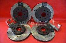 FRONT REAR DRILLED GROOVED BRAKE DISCS + PADS KIT LEXUS IS200 IS300 GS300 GS400