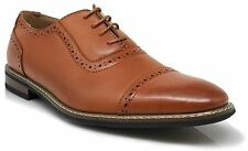 Parrazo Men Dress Shoes Wingtip Oxford Leather Lined Lace Up Black Brown