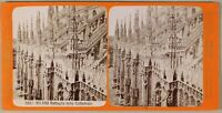 Brogi Milan Cattedrale Foto Stereo PL55L2n2 Vintage Albumina c1880