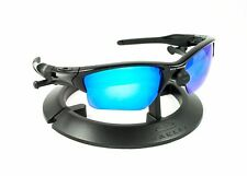 OAKLEY HALF JACKET 2.0 XL BLACK FRAME / REVANT ICE BLUE POLARIZED CUSTOM LENSES