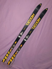 HEXCELL Firelite vintage 1970s alpine skis 160cm with LOOK GT classic bindings ~