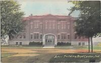 Indiana In Postcard 1911 ROYAL CENTER School Building