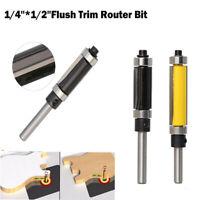 """New 1/4 """"Schaft Muster Flush Trim Fräser -1 / 2"""" Cutter Top & Bottom Bearing"""
