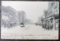 ANTIQUE UNDIVIDED POSTCARD WEST 125th STREET NEW YORK CITY NY trolley horse cart