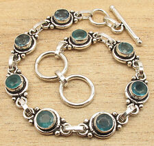 Free Shipping on Additional Items! Silver Plated Apatite MADE IN INDIA Bracelet