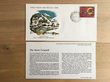 MONGOLIA 1979 FDC WWF 141 BIG CATS SNOIW LEOPARD