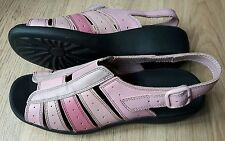 HOTTER TINO SIZE 6.5/40 PINK LEATHER WEDGE SANDALS WORN TWICE FREE P&P