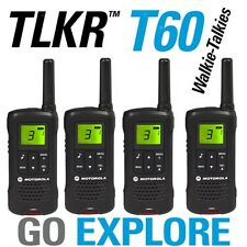 ** Motorola Talker TLKR T60 Quad 2 Way Walkie Talkie PMR 446 Radio 4 Pack **