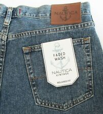 Nautica Men's Jeans 34 x 30 Faded Wash Relaxed Fit NWT