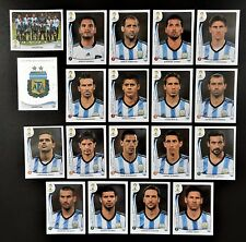 Panini FIFA World Cup Brazil 2014 Complete Team Argentina + Foil Badge