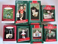 Lot 8 Hallmark Keepsake Christmas Ornaments 1989, 1990, 1996, 2001 - s#3