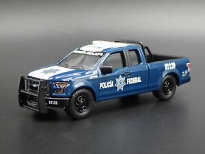 2017 17 FORD F150 PICKUP TRUCK POLICIA FEDERAL SSP POLICE 1:64 DIECAST MODEL CAR