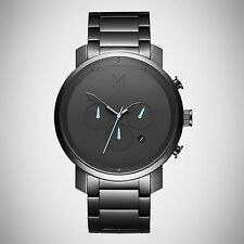 MVMT Watches CHRONO ALL GUN METAL With Stainless Steel Bracelet Men's Watch NEW