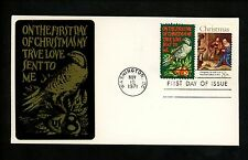 US FDC #1444-1445 Sarzin 1971 Washington DC Christmas Religious Partridge Combo