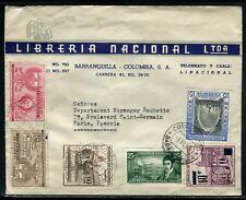 Colombie - Enveloppe commerciale de Barranquilla pour Paris en 1959 - ref D222