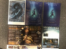 The SHAPE of WATER Japan SET flyer x3 OSCAR Academy Awards Guillermo Del Toro