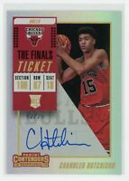 2018-19 CHANDLER HUTCHISON 02/25 AUTO PANINI CONTENDERS TICKET ROOKIE RC#140