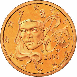 [#753877] France, 5 Euro Cent, 2003, Proof, FDC, Copper Plated Steel, KM:1284