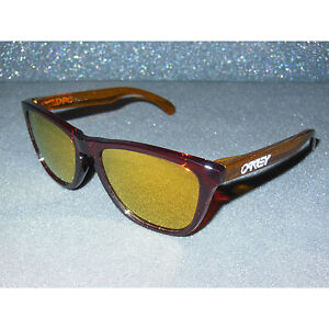 New Oakley Frogskins Sunglasses Moto Nitrous/24K Iridium Retro 80s Sport USA