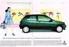 Publicité Advertising 1992 (2 pages) Renault Clio S