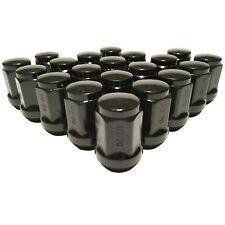 "Set of 20 Black 1/2"" Lug Nuts Acorn Bulge Closed End Lugnuts 1/2x20 Ford Jeep"