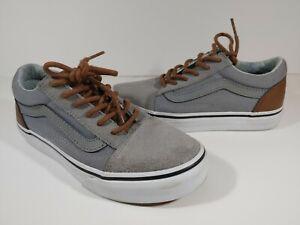 Vans Old Skool Low Top Sneakers Youth Size 1.5  Gray/Brown