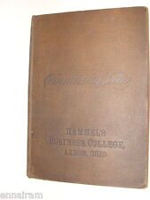 1893 Commercial Law text by Hills Hammel's Business College Akron Ohio