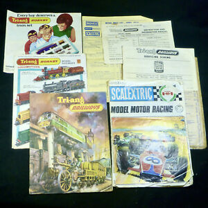 Hornby Triang Scalextric Catalogues Brochures Model Railway Slot Car Toy Vintage