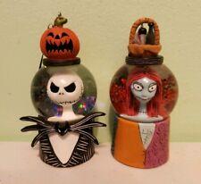 Disney The Nightmare Before Christmas Jack Sally Snowglobe Ornaments Set Of 2