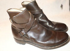 Vtg Commander 85 Brown  Leather wraparound strap Boots Size 9.5 M Very Nice