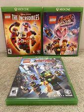 Lego The Incredibles Ninjago Movie 2 Video Game Lot Set Bundle Kids Tested