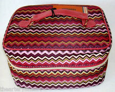 MISSONI x Target Train Case Make-up Tote Passione Purple Zig Zag NEW w/ Tags!