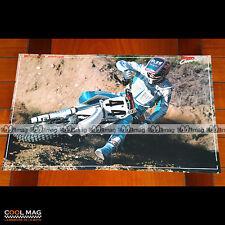 BROC CLOVER sur sa YAMAHA N°44 en 1988 - Poster Pilote Moto CROSS #PM1320