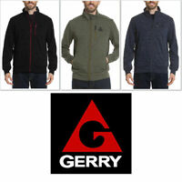 Gerry Men's Full Zip Up Static Sweater Jacket Slate Nocturne Mosstone Zipper