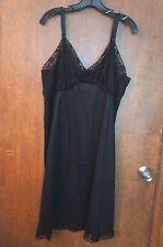 Vtg. Hollywood Vassarette By Munsingwear Black Slip: Size A 40