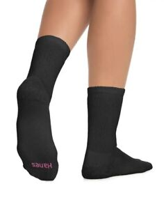 "Hanes® Men's 11-Pairs Crew Socks   ""FreshIQ®-Ultimate®-ComfortBlend®-Cushioned"""