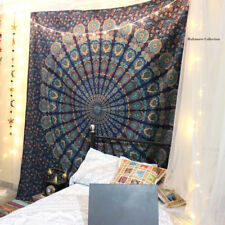 Indian Hippie Tapestry Twin  Psychedelic Wall Hanging Bohemian Hippie Throw Deco