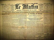 AFFAIRE DREYFUS PROCES RENNES 11e JOUR AUDIENCE Me DEMANGE GUERIN LE MATIN 1899